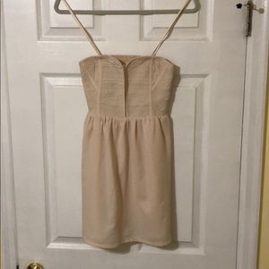 Staring at Stars Nude Strapless Dress—UO